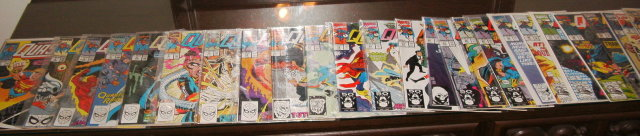 Assortment of 25 different Quasar comic books in near mint or better condition