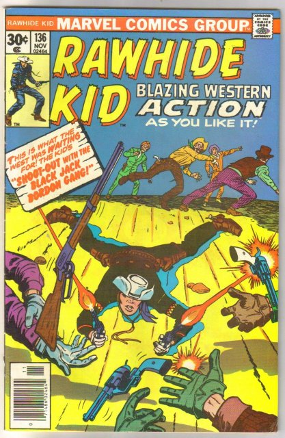 Rawhide Kid #136 comic book fine/very fine 7.0
