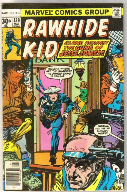 Rawhide Kid #139 comic book fine/very fine 7.0