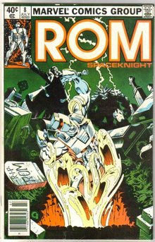 Rom Spaceknight #8 comic book near mint 9.4
