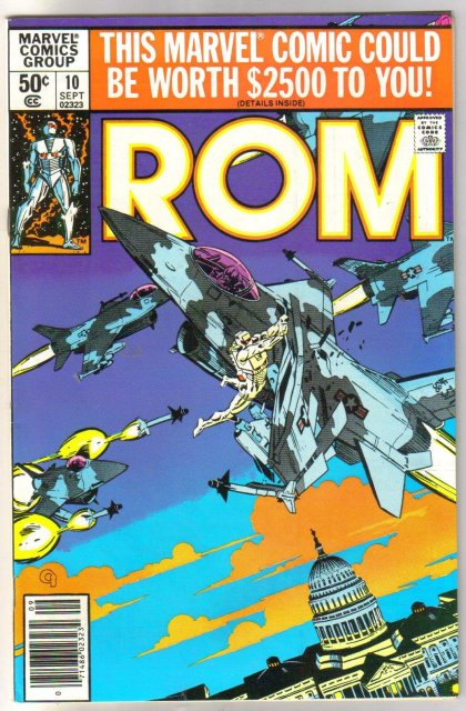 Rom Spaceknight #10 comic book near mint 9.4