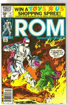 Rom Spaceknight #11 comic book near mint 9.4