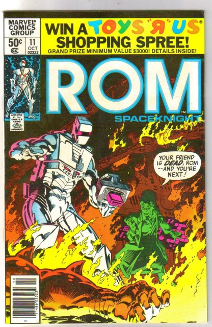 Rom Spaceknight #11 comic book near mint 9.4