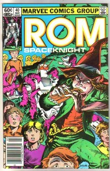 Rom Spaceknight #40 comic book near mint 9.4