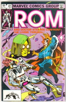 Rom Spaceknight #41 comic book near mint 9.4