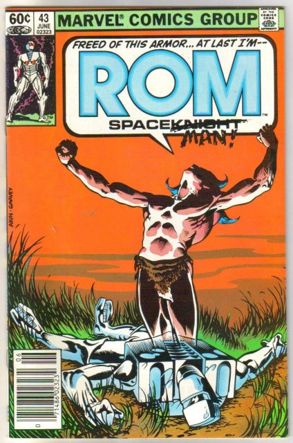 Rom Spaceknight #43 comic book near mint 9.4