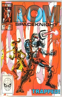 Rom Spaceknight #49 comic book near mint 9.4