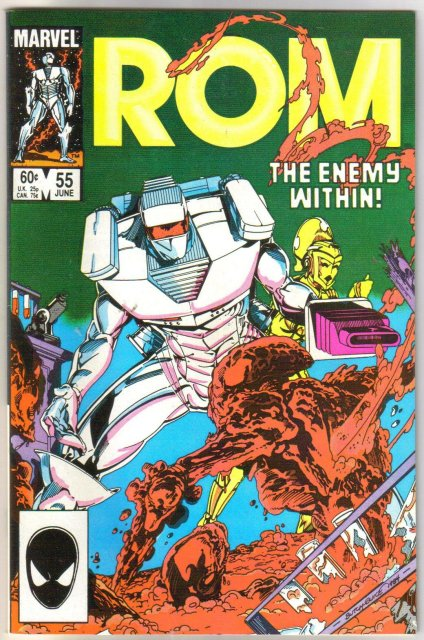 Rom Spaceknight #55 comic book near mint 9.4