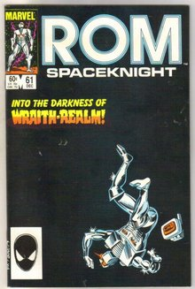 Rom Spaceknight #61 comic book near mint 9.4