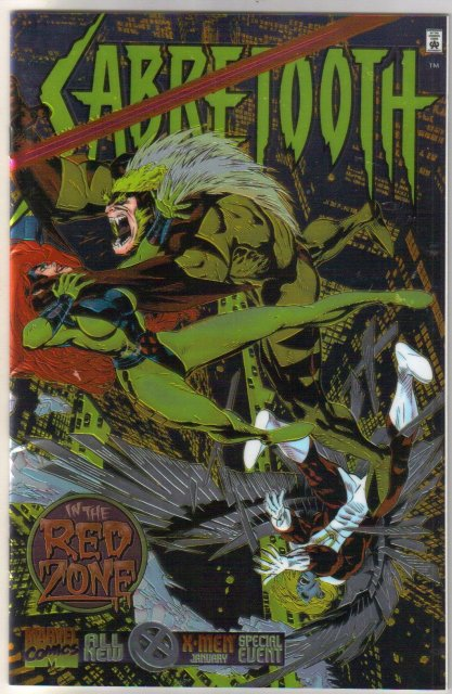 Sabretooth Red Zone Special chromium wrap-around cover comic book near mint 9.4