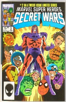 Marvel Super Heroes Secret Wars #2 comic book near mint 9.4
