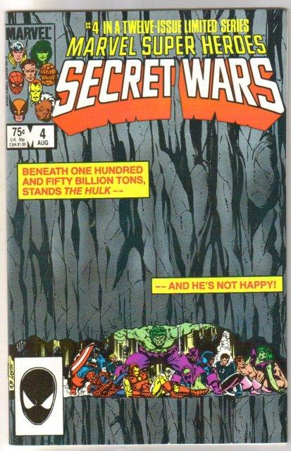 Marvel Super Heroes Secret Wars #4 comic book near mint 9.4