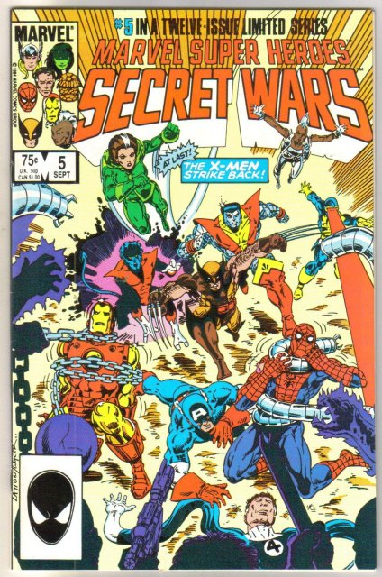 Marvel Super Heroes Secret Wars #5 comic book near mint 9.4