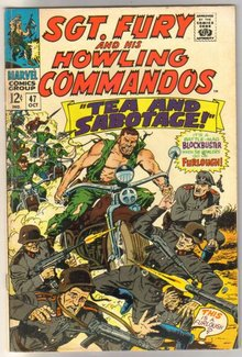 Sgt. Fury and His Howling Commandos #47 comic book fine 6.0