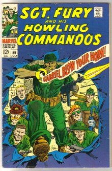 Sgt. Fury and His Howling Commandos #56 comic book very good 4.0