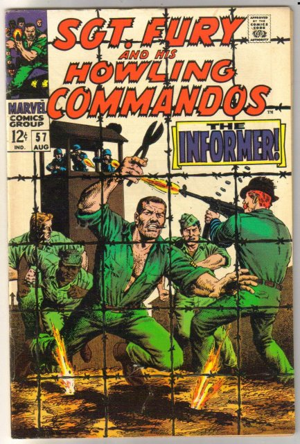 Sgt. Fury and His Howling Commandos #57 comic book fine/very fine 7.0