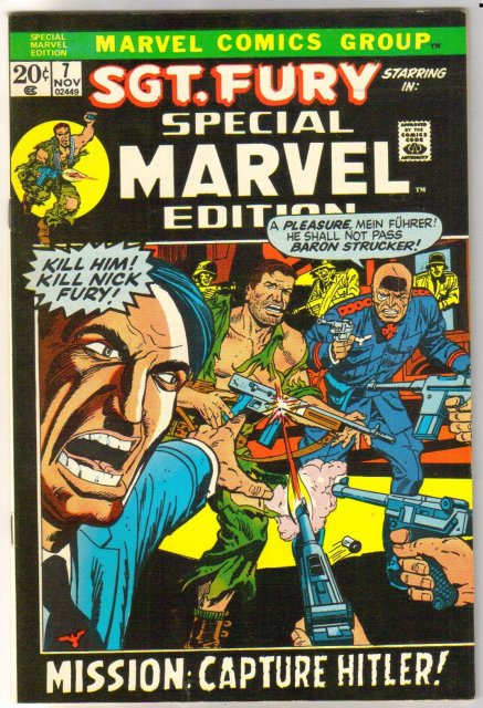 Special Marvel Edition #7 Sgt. Fury comic book near mint 9.4
