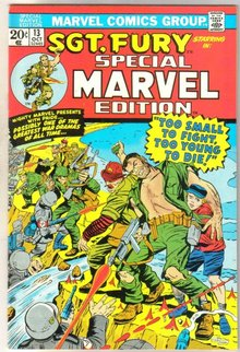 Special Marvel Edition #13 Sgt. Fury comic book near mint 9.4
