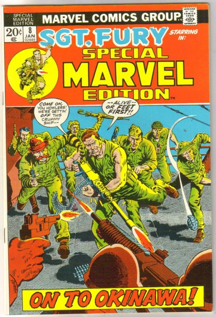 Special Marvel Edition #8 Sgt. Fury comic book very fine/near mint 9.0