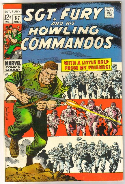Sgt. Fury and His Howling Commandos #67 comic book very fine/near mint 9.0