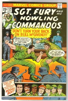 Sgt. Fury and His Howling Commandos #124 comic book very fine/near mint 9.0