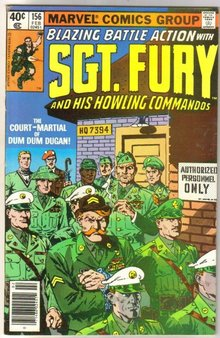 Sgt. Fury and His Howling Commandos #156 comic book very fine/near mint 9.0