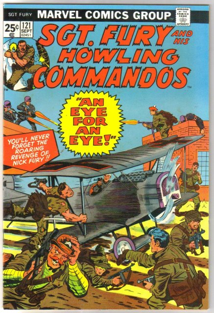 Sgt. Fury and His Howling Commandos #121 comic book near mint 9.4
