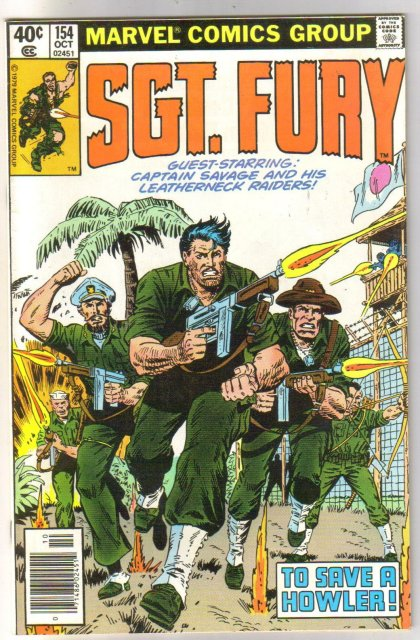 Sgt. Fury and His Howling Commandos #154 comic book near mint 9.4