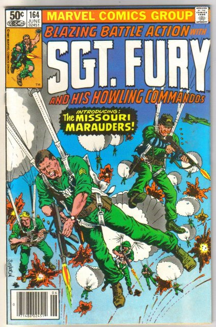 Sgt. Fury and His Howling Commandos #164 comic book near mint 9.4