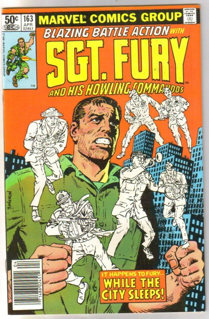 Sgt. Fury and His Howling Commandos #163 comic book near mint 9.4
