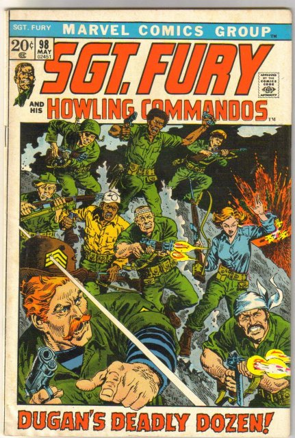 Sgt. Fury and His Howling Commandos #98 comic book very fine 8.0