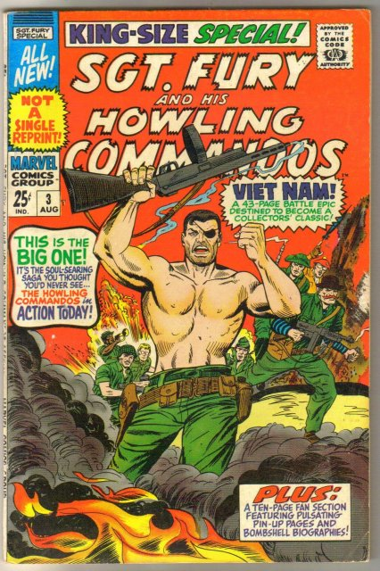 Sgt. Fury and His Howling Commandos king-size special #3 comic book very fine 8.0