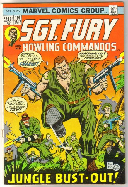 Sgt. Fury and His Howling Commandos #114  comic book fine 6.0