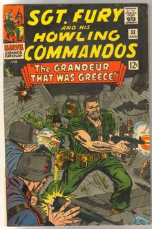 Sgt. Fury and His Howling Commandos #33  comic book very good/fine 5.0