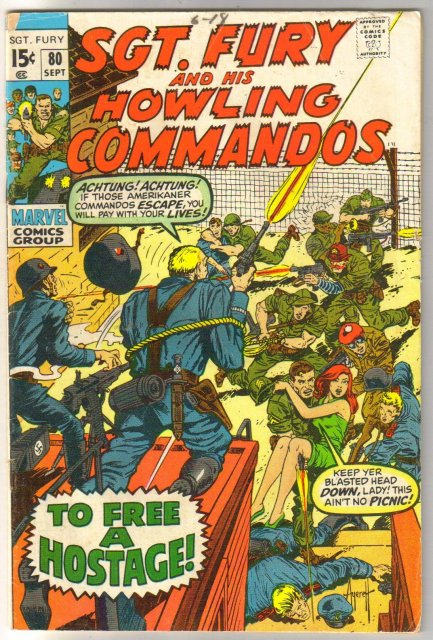 Sgt. Fury and His Howling Commandos #80  comic book very good 4.0