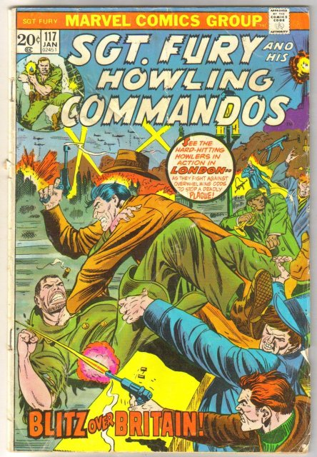 Sgt. Fury and His Howling Commandos #117  comic book very good 4.0