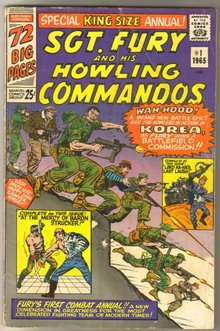 Sgt. Fury and His Howling Commandos king size annual #1 comic book very good 4.0