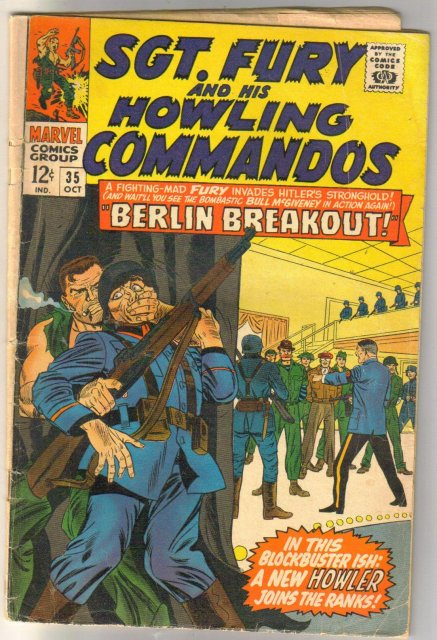 Sgt. Fury and His Howling Commandos #35 comic book good/very good 3.0