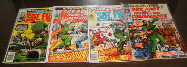 Sgt. Fury assortment of 4 comic books