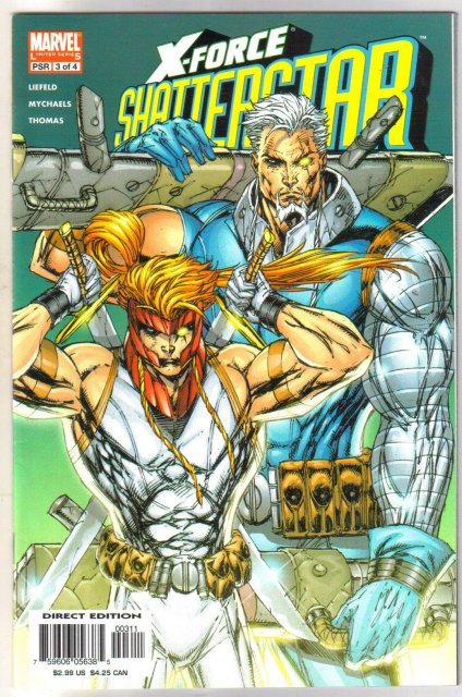 Rob Liefeld X-Force Shatterstar #3 comic book near mint 9.4