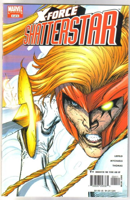 Rob Liefeld X-Force Shatterstar #4 comic book  mint 9.8