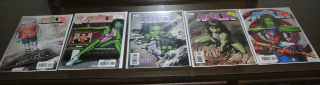 She-Hulk comic book collection of 5