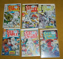Silver Sable comic book collection of 6 near mint and better