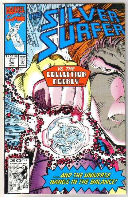 Silver Surfer volume 3 #61 comic book near mint 9.4