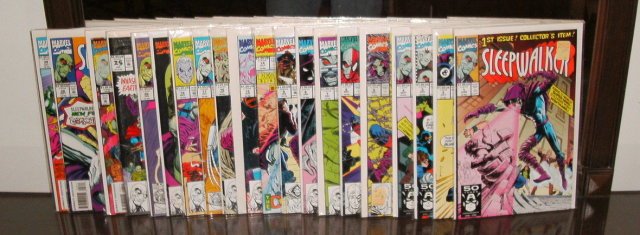 Sleepwalker comic book collection of 20 different issues near mint or better
