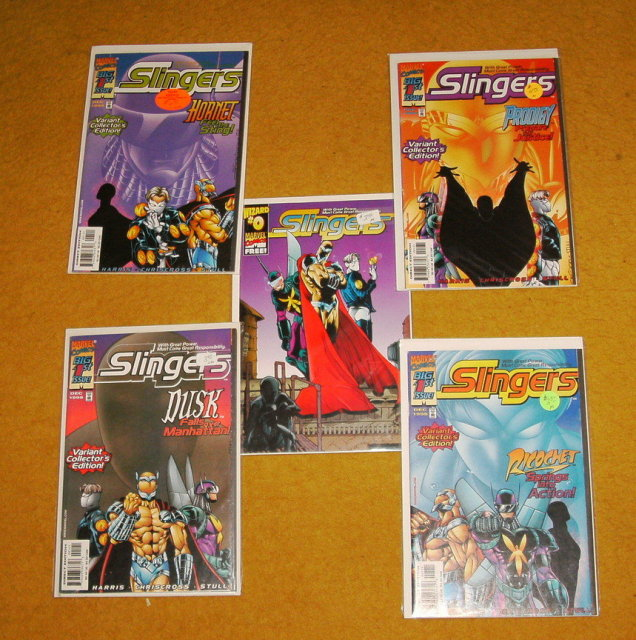 Slingers #1 complete collection plus #1/2 five comic books near mint and better
