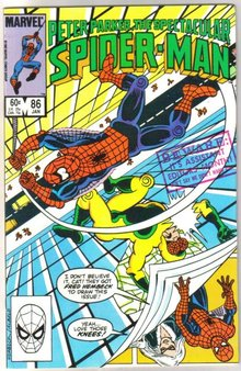 Peter Parker, the Spectacular Spider-man #80 comic book near miont 9.4