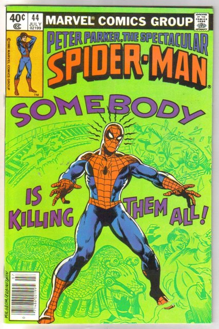 Peter Parker, the Spectacular Spider-man #44 comic book  miont 9.8