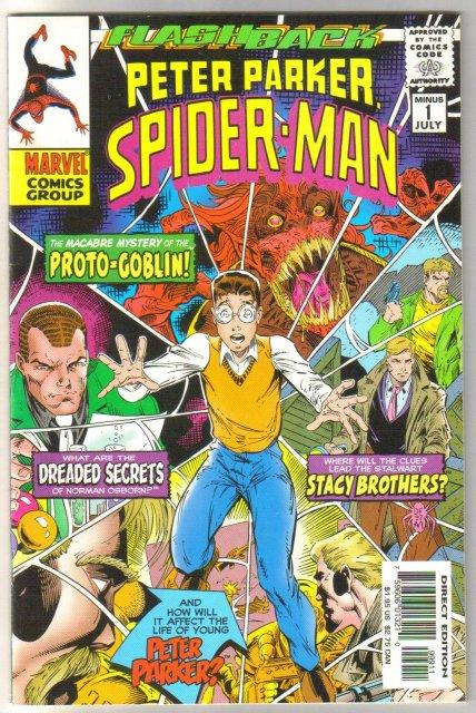 Peter Parker Spider-man issue minus 1 comic book