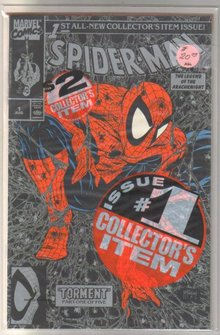 Spider-man #1 silver bagged edition near unopened comic book